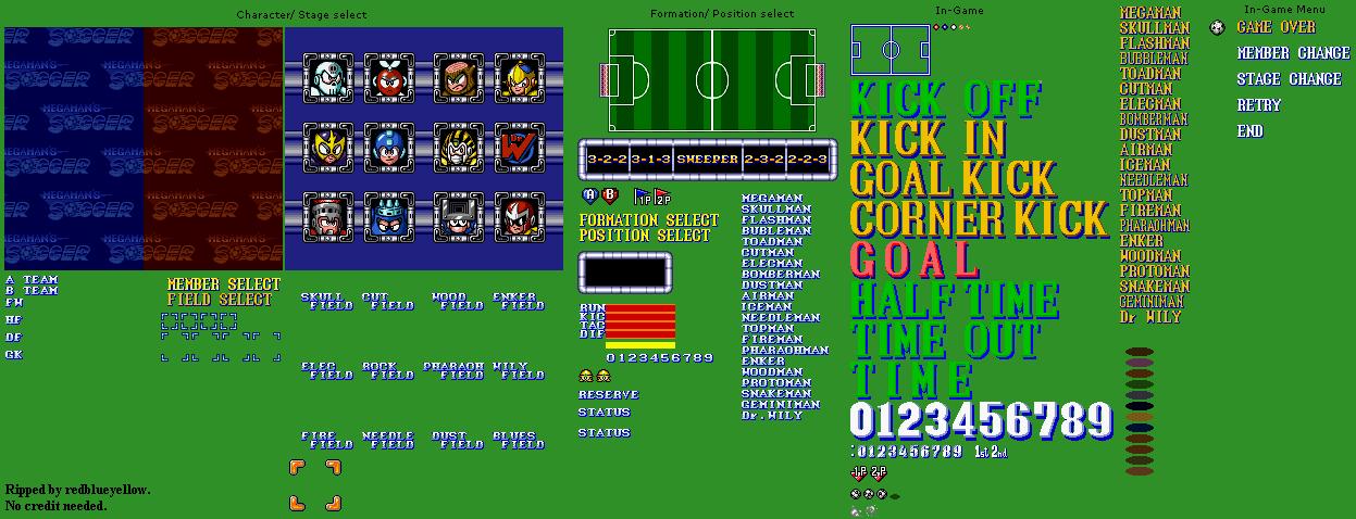 SNES - Mega Man Soccer - General Sprites - The Spriters Resource