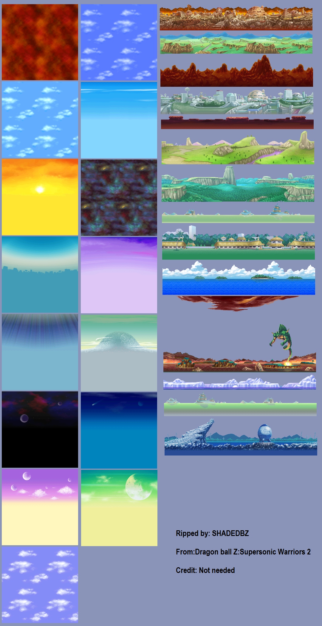 Ds Dragon Ball Z Supersonic Warriors 2 Backgrounds The