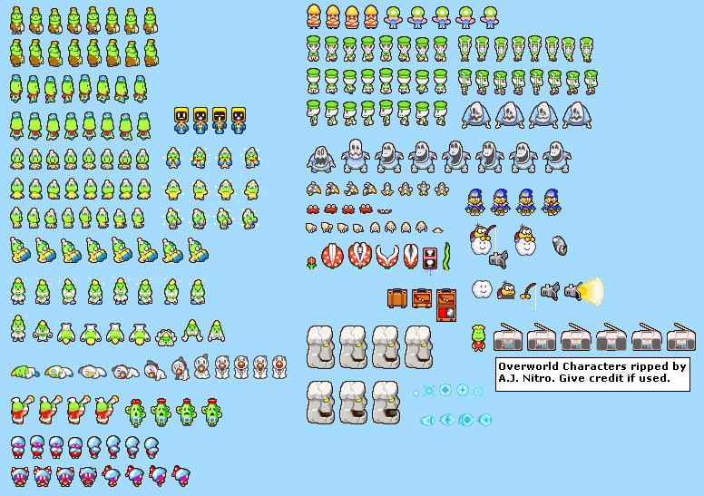Game Boy Advance Mario Luigi Superstar Saga Overworld